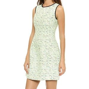Shoshanna Charlie Jacquard Dress in Neon Yellow